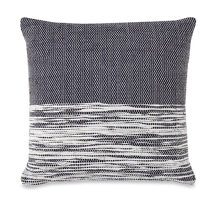 Alternate image 1 for Spun™ by Welspun 16-Inch Square Throw Pillow in Indigo