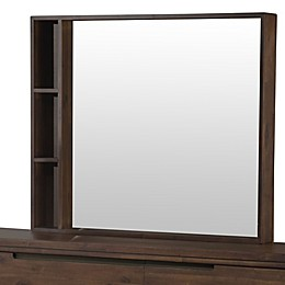 Modus Furniture 47-Inch x 36-Inch Portland Mirror in Walnut