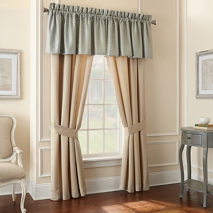 Alternate image 1 for Waterford® Linens Aramis Window Valance in Aqua/Gold