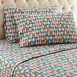 Micro Flannel® Printed Sheet Set in Kool Kats