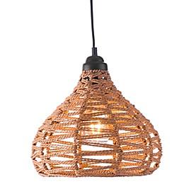 Zuo® Nezz 1-Light Ceiling Lamp in Beige