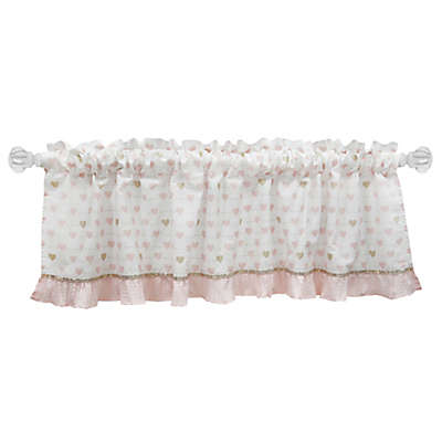 Lambs & Ivy® Sweetheart Window Valance in Pink/Gold