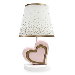 Lambs & Ivy® Metallic Lamp and Shade in Pink/Gold