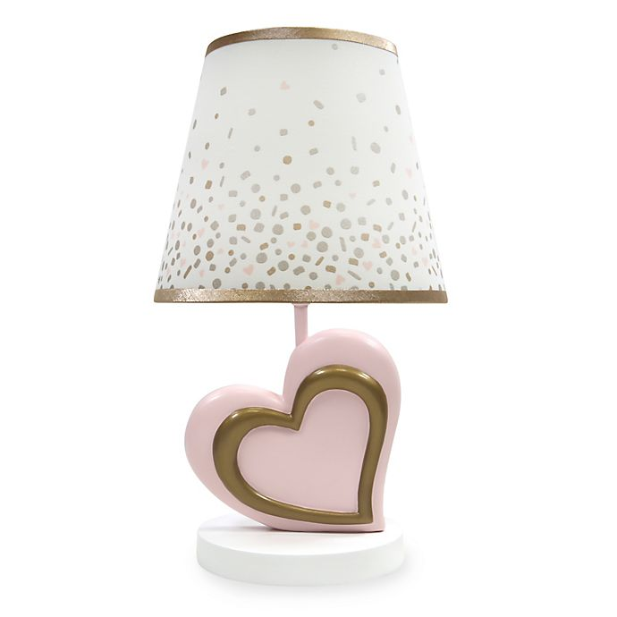 Alternate image 1 for Lambs & Ivy® Metallic Lamp and Shade in Pink/Gold