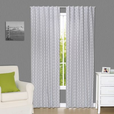 The Peanut Shell Arrows 84 Inch Blackout Window Curtain Panels In Grey Set Of 2