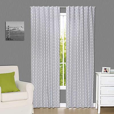 The Peanutshell™ Arrows 84-Inch Blackout Window Curtain Panels in Grey (Set of 2)