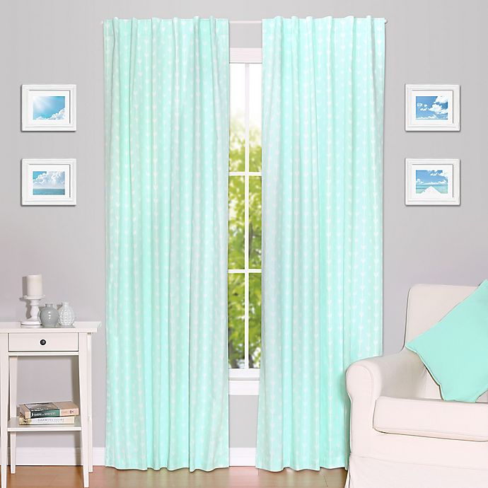 Alternate image 1 for The Peanutshell™  Arrows 84-Inch Blackout Window Curtain Panels in Mint (Set of 2)