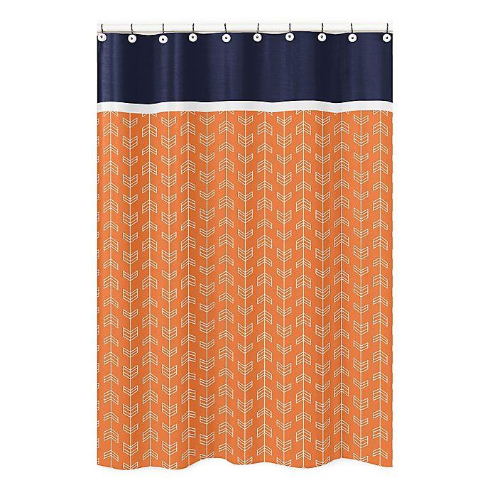 Sweet Jojo Designs Arrow Shower Curtain In Navy White