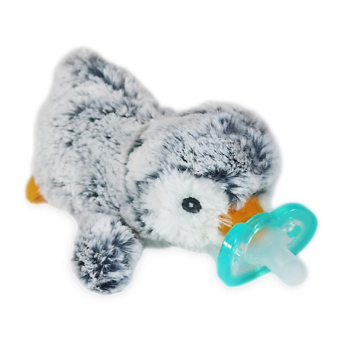 Alternate image 1 for RaZ-Buddy JollyPop Penguin Pacifier Holder with Removable Pacifier