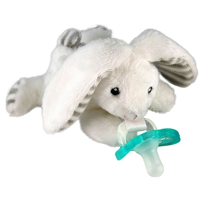 Alternate image 1 for RaZbaby® RaZbuddy Bunny Pacifer Holder with Removable JollyPop Pacifier