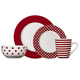 Pfaltzgraff® Kenna 16-Piece Dinnerware Set in Red