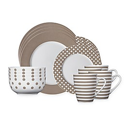 Pfaltzgraff® Kenna 16-Piece Dinnerware Set in Taupe