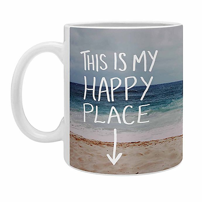 Alternate image 1 for Deny Designs Leah Flores Happy Place X Beach Coffee Mugs in Blue (Set of 2)