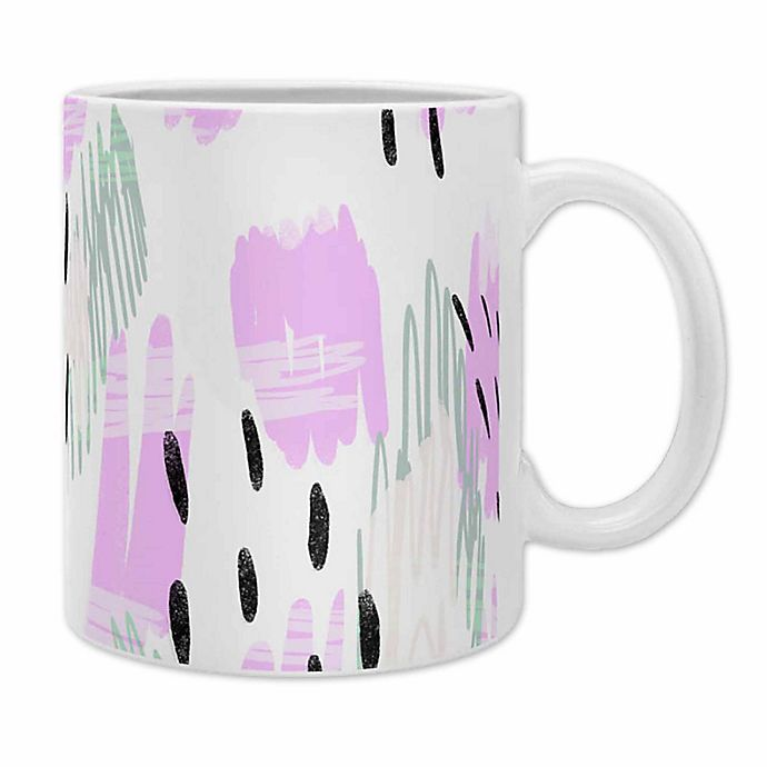 Alternate image 1 for Deny Designs Allyson Johnson Jordan Bold Abstract Coffee Mugs in Purple (Set of 2)