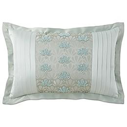 Waterford® Linens Aramis Beaded Oblong Throw Pillow in Aqua