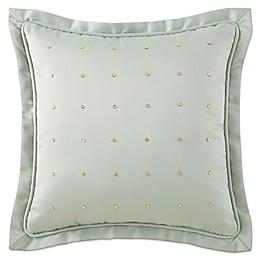 Waterford® Linens Aramis Rhinestone Square Throw Pillow in Aqua