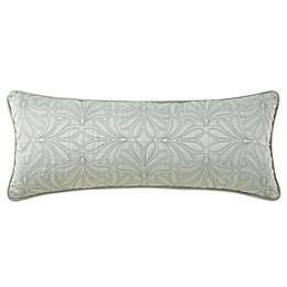 Waterford® Linens Aramis Leaf Oblong Throw Pillow in Aqua