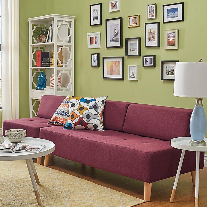 Alternate image 1 for Verona Home Radley Mid-Century Modular Armless Sofa