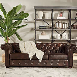 iNSPIRE Q® Nottingham Chesterfield Sofa in Brown