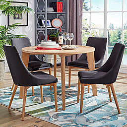 iNSPIRE Q® Hudson Mid-Century 5-Piece Round Dining Set in Dark Grey