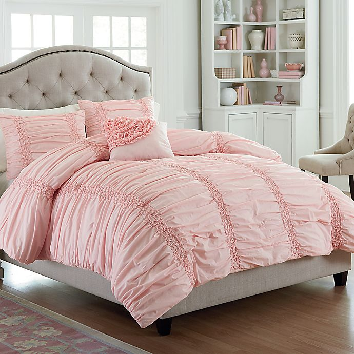 Alternate image 1 for Mary Jane's Home® Cotton Clouds Twin Comforter Set in Pink