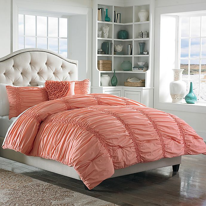 Alternate image 1 for Mary Jane's Home® Cotton Clouds Full/Queen Comforter Set in Coral
