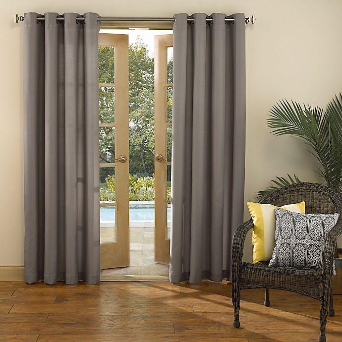 Alternate image 1 for Sun Zero Marlee 84-Inch Grommet Top Indoor/Outdoor Window Curtain Panel in Grey