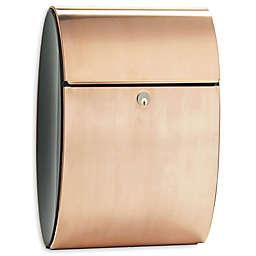 QualArc® Allux Ellipse Locking Wall Mount Mailbox in Copper