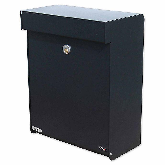 Alternate image 1 for QualArc® Allux Grandform Locking Wall Mount Mailbox in Black