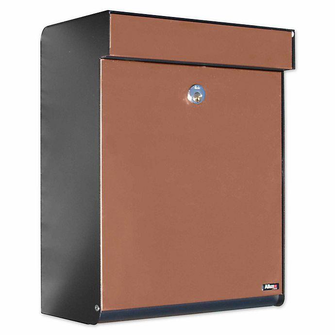 Alternate image 1 for QualArc® Allux Grandform Locking Wall Mount Mailbox in Black/Copper