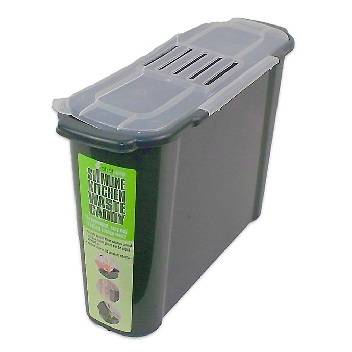 bosmere 2 4 gallon slim kitchen compost caddy bed bath. Black Bedroom Furniture Sets. Home Design Ideas