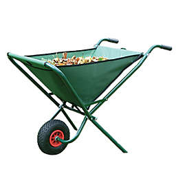 Bosmere Folding Wheelbarrow in Green