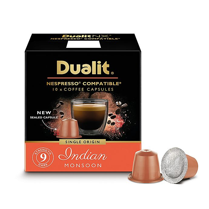 Alternate image 1 for Dualit® 60-Count NX Origins Indian Monsoon Nespresso® Compatible Coffee Capsules