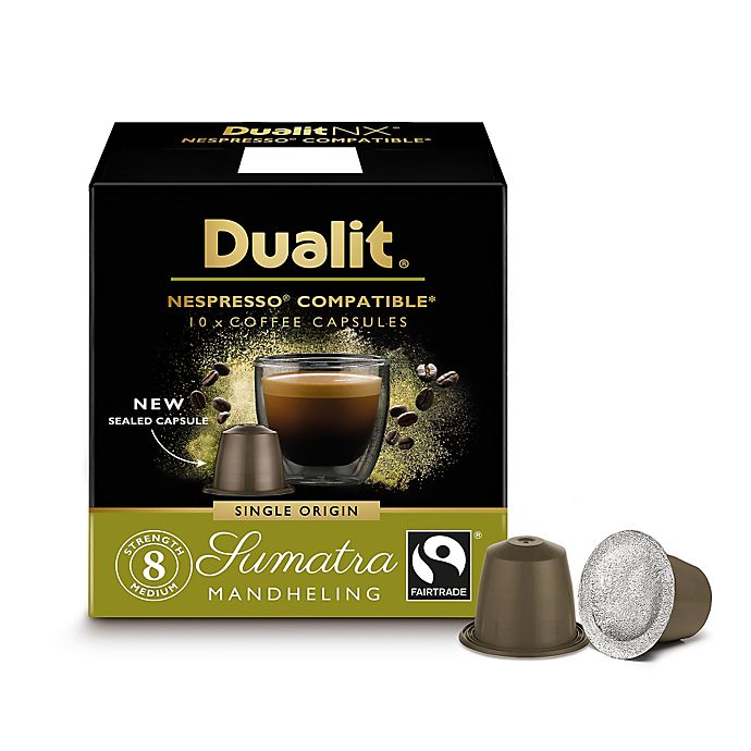 Alternate image 1 for Dualit® 60-Count NX Origins Sumatra Mandheling Nespresso® Compatible Coffee Capsules