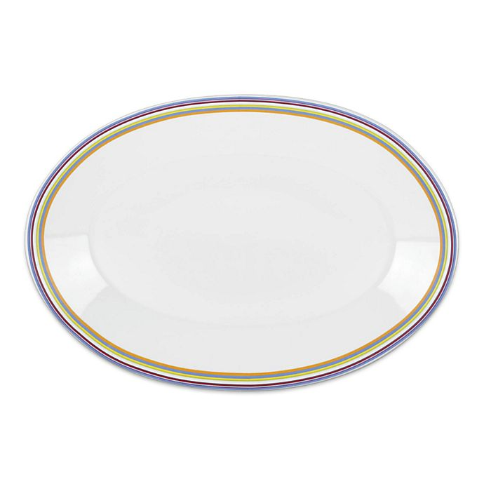 Alternate image 1 for DKNY Lenox® Urban Essentials 16-Inch Oval Platter in White
