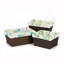 Sweet Jojo Designs Layla 3-Piece Basket Liner Set