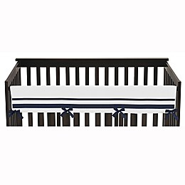 Sweet Jojo Designs Hotel Long Rail Guard Cover in White/Navy