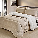 Sherpa Down Alternative 3-Piece Queen Comforter Set in Camel