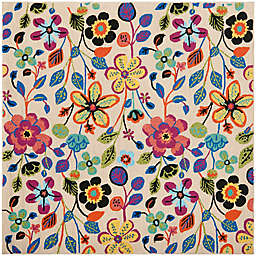 Safavieh Four Seasons Floral 6-Foot Square Area Rug in Ivory Multi