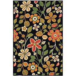 Safavieh Four Seasons Floral 8-Foot x 10-Foot Area Rug in Black Multi