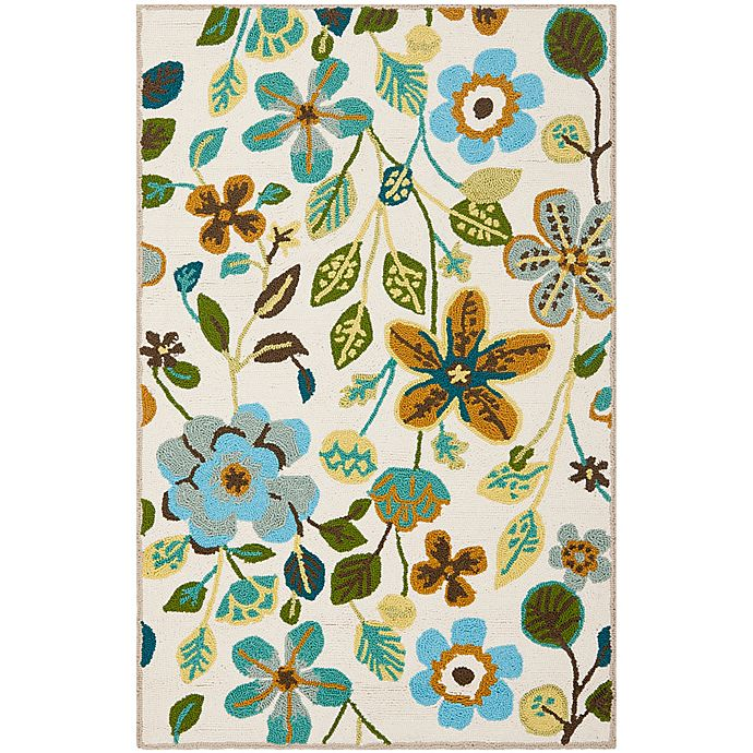 Alternate image 1 for Safavieh Four Seasons Floral 2-Foot 6-Inch x 4-Foot Accent Rug in Ivory Multi