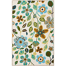 Safavieh Four Seasons Floral 2-Foot 6-Inch x 4-Foot Accent Rug in Ivory Multi
