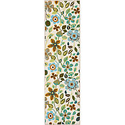 Safavieh Four Seasons Floral 2-Foot 3-Inch x 6-Foot Runner in Ivory Multi