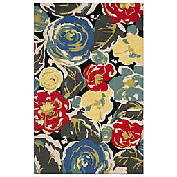 Safavieh Four Seasons Watercolor 5-Foot x 8-Foot Area Rug in Black Multi