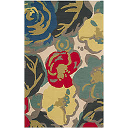 Safavieh Four Seasons Watercolor 2-Foot 6-Inch x 4-Foot Accent Rug in Ivory