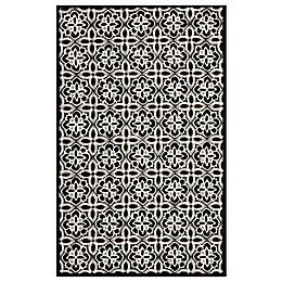 Safavieh Seasons Tangier Tile Rug in Black/Ivory