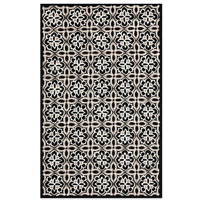 Alternate image 1 for Safavieh Seasons Tangier Tile Rug in Black/Ivory