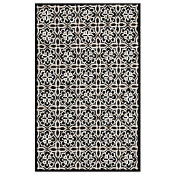 Safavieh Seasons Tangier Tile Rug in Black/Ivory