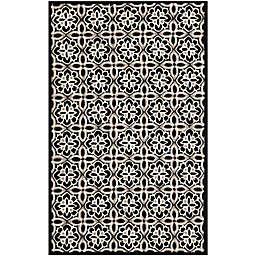 Safavieh Seasons Tangier Tile 8-Foot x 10-Foot Area Rug in Black/Ivory
