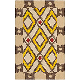Safavieh Four Seasons Southwest 2-Foot 6-Inch x 4-Foot Accent Rug in Beige/Yellow